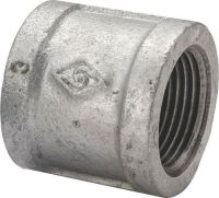"""NEW 3"""" INCH GALVANIZED PIPE THREADED COUPLING FITTING ..."""