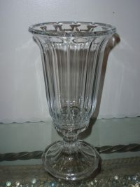 Hurricane 24% Lead Crystal Glass Shade Two Piece Lamp Or ...