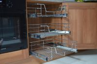 PULL OUT WIRE BASKETS KITCHEN LARDER BASE UNIT CUPBOARD ...