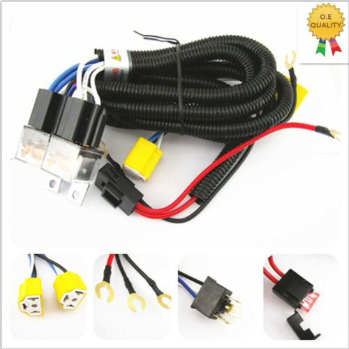 small resolution of details about h4 headlight 2 head lamp relay socket plug wiring harness set fix dim lights