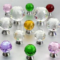 Crystal Glass Door Knobs Drawer Cabinet Cupboard Furniture ...