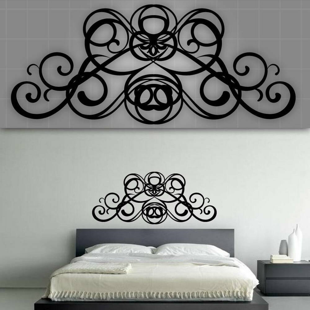 Headboard Wall Decal. Decorative Headboard Wall Decal