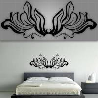 Decorative Headboard Wall Decal, Bedroom Wall Decor