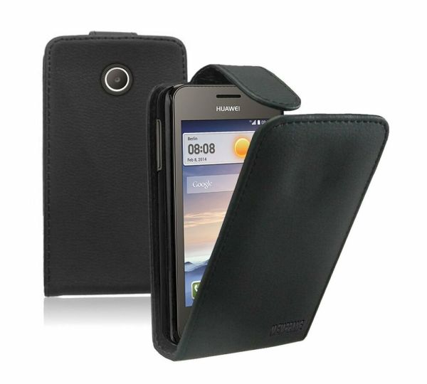 Leather Mobile Phone Accessories For Huawei Ascend Y330