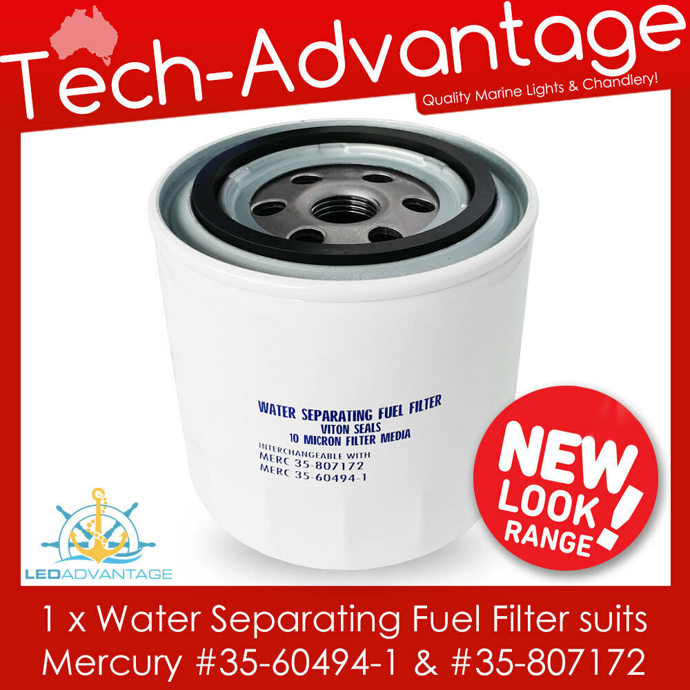 hight resolution of boat water separating outboard fuel filter mercury 35 60494 1 35 807172 ebay