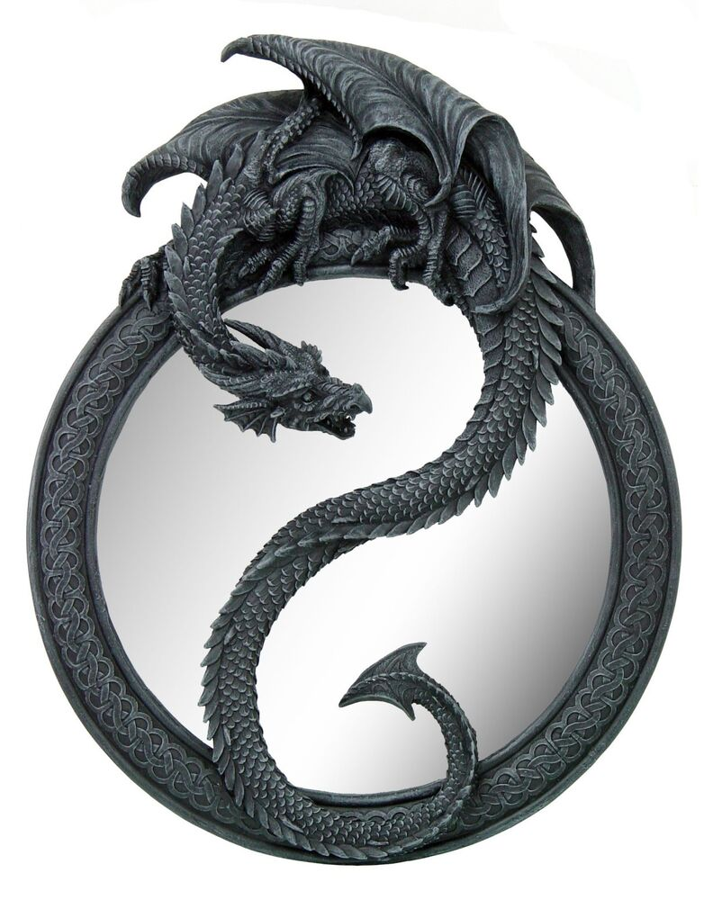 Medieval Dragon Wall Mirror Home Decor DecorativeGame