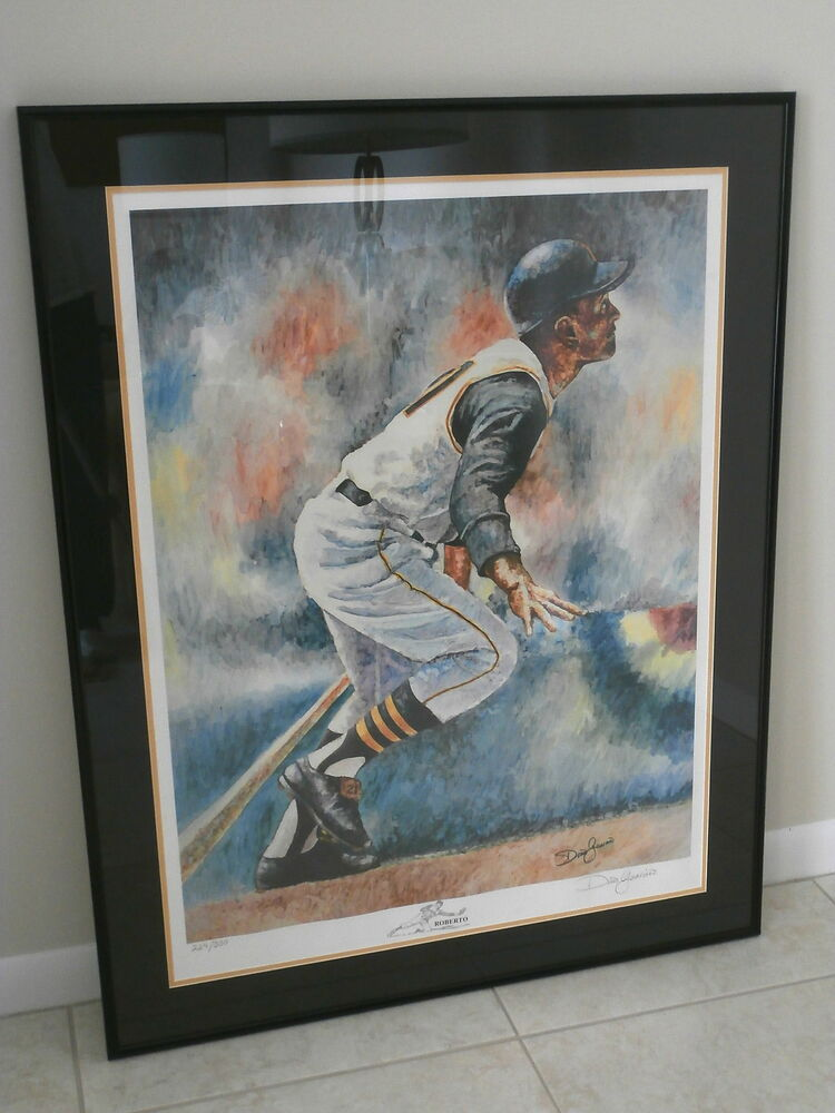 ROBERTO CLEMENTE LITHOGRAPH By DINO GUARINO ROBERTOSIGNED BY ARTIST EBay