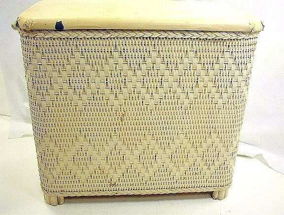 Small Wicker Hamper Vintage Small White Wicker Clothes Hamper Laundry Venting