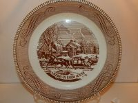 Royal China by Jeannette Pie Plate Currier & Ives ...