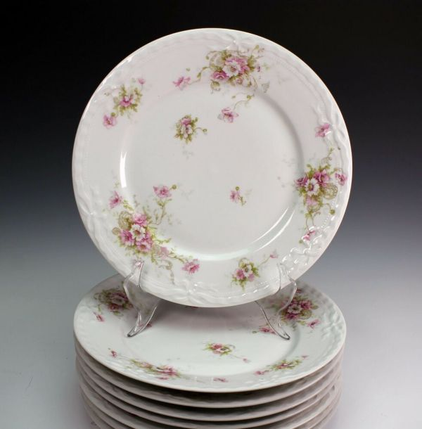 Haviland Schleiger 313-1 Pink White Poppy Limoges France 8