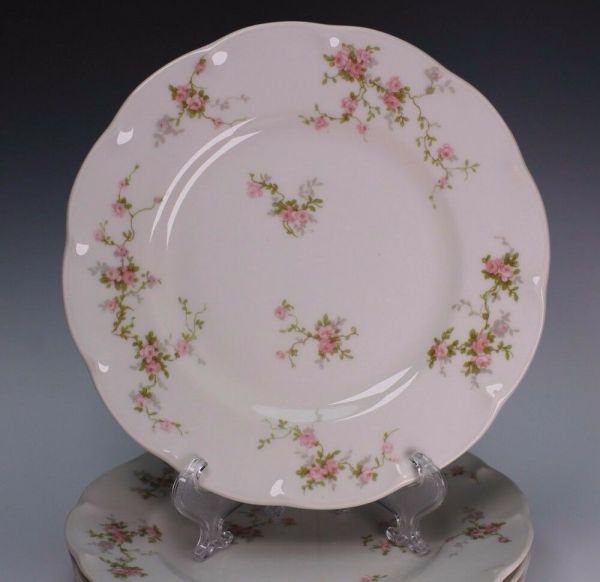 Haviland Limoges France Seven Bread Plate Plates H465 Pink