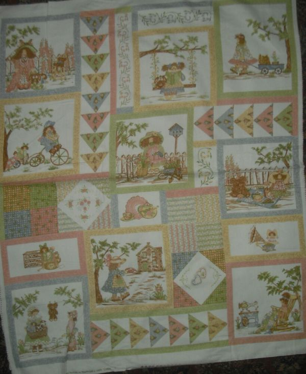 Northcott Gentler Times Flannel Panel Quilt Fabric - 1 Yd