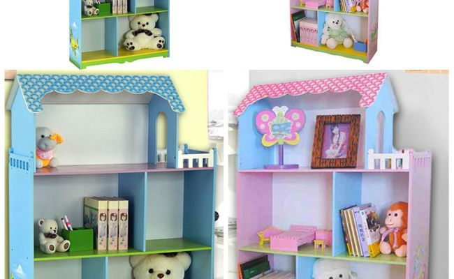 Children Furniture Kids Girl Boys Doll House With Bolcony