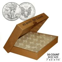 50 Direct Fit Airtight H40 Coin Holder Capsules Holders ...