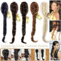 wig hair extension braid wiwigs celebrity clip in fishtail ...