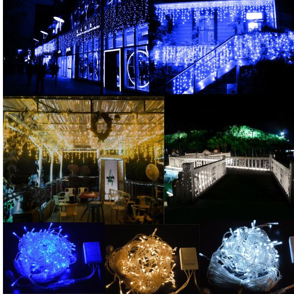 150300 LED Fairy Curtain Icicle String Lights For Wedding