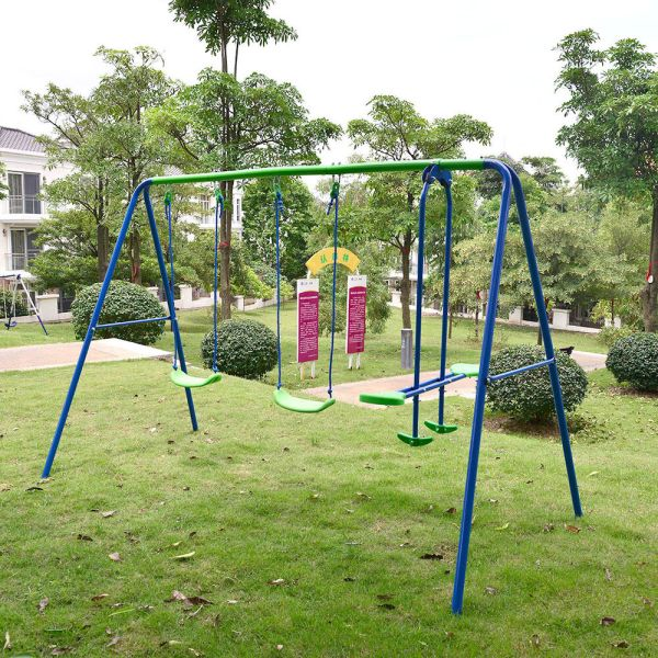 Playground Metal Swing Set Swingset Play Outdoor Children Kids Backyard Playset