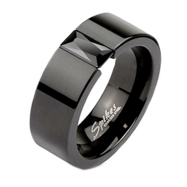 Men's Black Onyx Wedding Band Rings