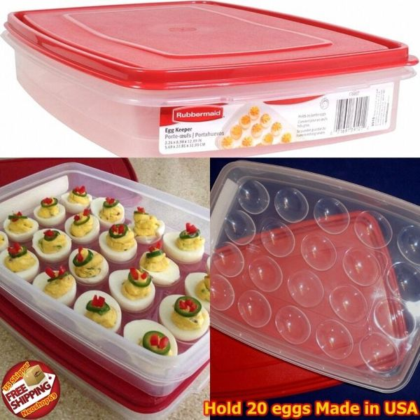 Rubbermaid Deviled Egg Keeper Tray Container Carrier Food
