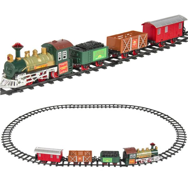 Classic Train Set Kids With Music And Lights Battery Operated Railway Car