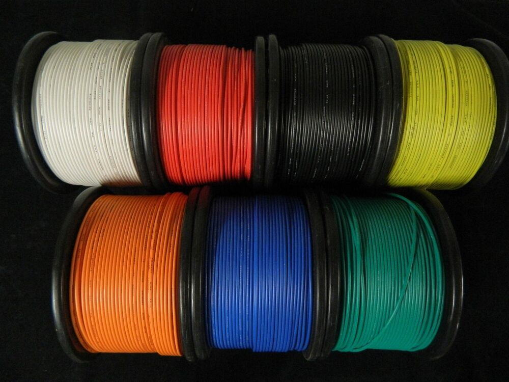 Cable Wiring Harness 100ft Spools 14 Gauge 7 Wire 7 Colors Ebay