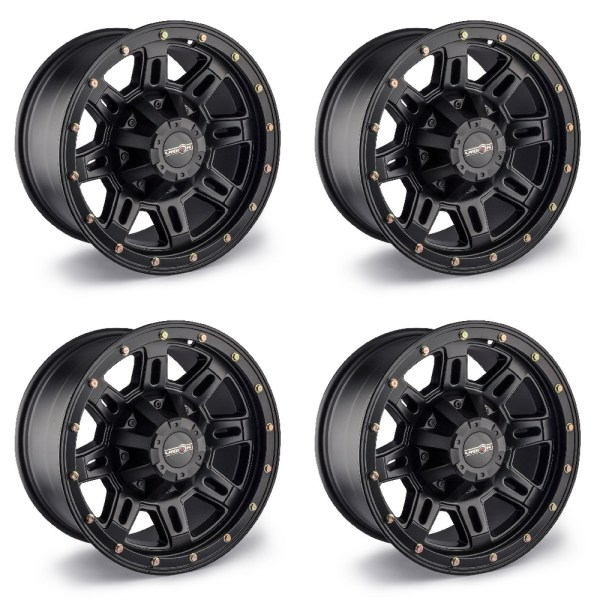 "Set Of 4 17"" Vision 400 Incline Black Wheels 17x9 8x170mm"