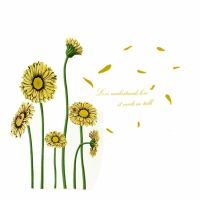 Home Room DIY Sunflower Pattern Removable Wall Decor