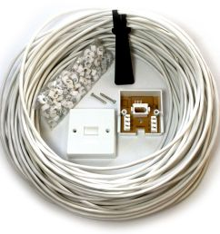 15m bt telephone master socket box line extend extension cable kit 10m 15m lead ebay [ 1000 x 1000 Pixel ]