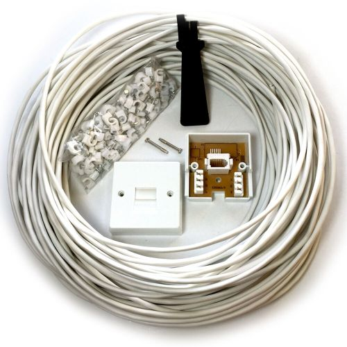 small resolution of details about 15m bt phone broadband wall socket extension cable kit 4 way reel wire lead