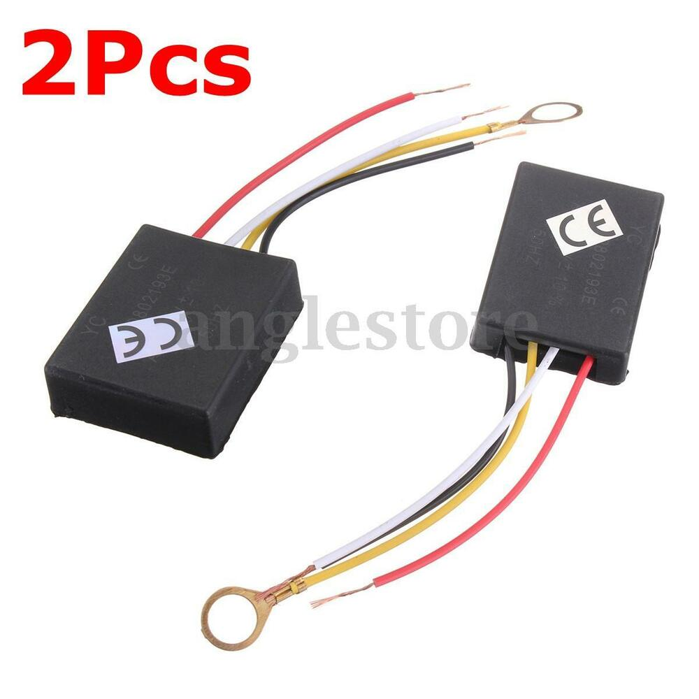 2Pc 110V 3Way Light Touch Sensor Switch Control for Lamp