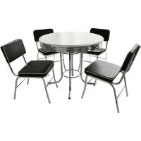 Black and White Retro Dining Table and Chairs Set | eBay