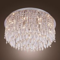 Modern Crystal Flush Mount Chandelier ...