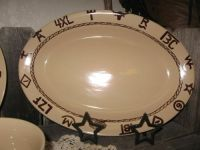 WESTERN DINNERWARE BRANDED DESIGN PLATTER COWGIRL KITCHEN