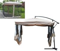 9'x9' Offset Umbrella w/Mesh Bug Net Patio Backyard Gazebo ...