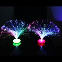 Color Changing LED Fiber Optic Night Light Lamp Stand Home ...