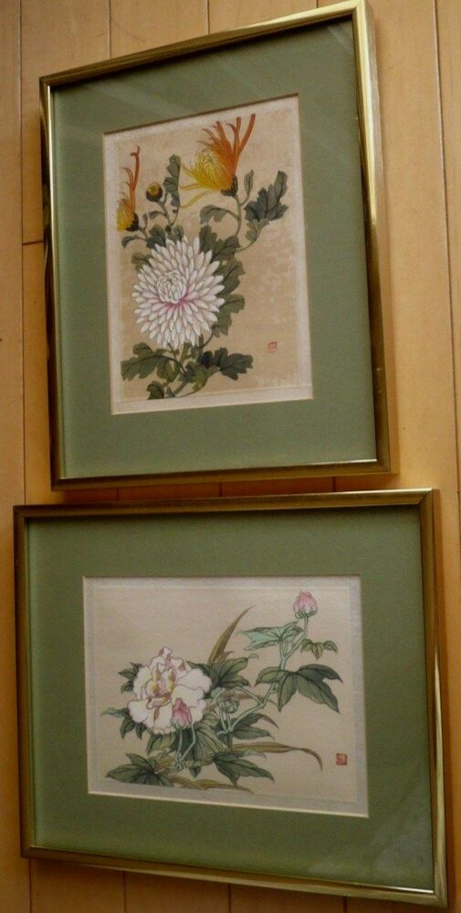 Rare Chinese China Paintings On Silk, From Srednick