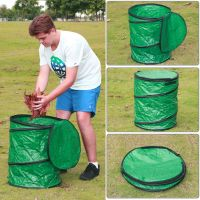 Large Collapsible Camping Trash Can Pop-up Leaf Garbage ...