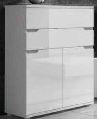 Lounge Gloss White Sideboard Office Furniture Cabinet ...