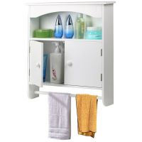 Wall Mount Bathroom Storage Cabinet Towel Shelf Toilet ...