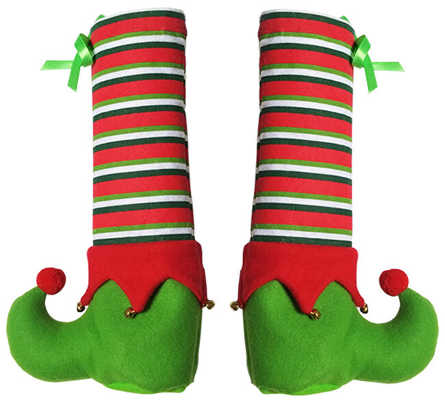 christmas chair back covers ebay zero gravity uk 1pc elf foot shoes table leg sleeve decor candy gift bag |