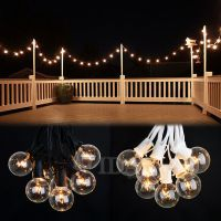 100 Foot Outdoor Globe Patio String Lights - Set of 90 G40 ...