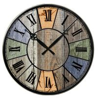 Colorful Shabby Vintage Style Chic Wooden Wall Clock ...