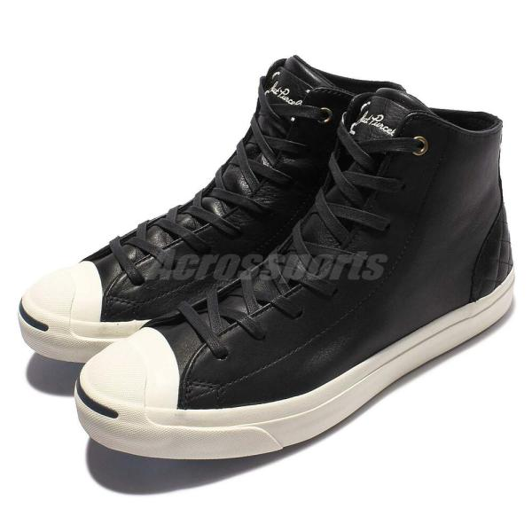 Converse Jack Purcell Mid Leather Black White Men