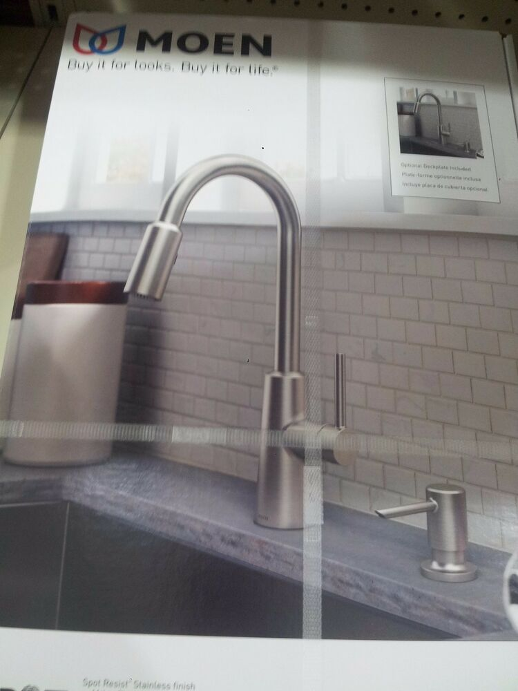 moen kitchen soap dispenser design software free nori spot resist stainless one handle pulldown ...