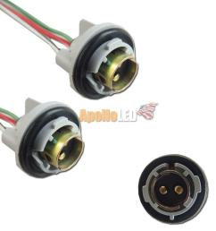 details about 2pcs 1157 2057 2357 turn signal light bulb socket harness plug pigtail adapter [ 1000 x 1000 Pixel ]