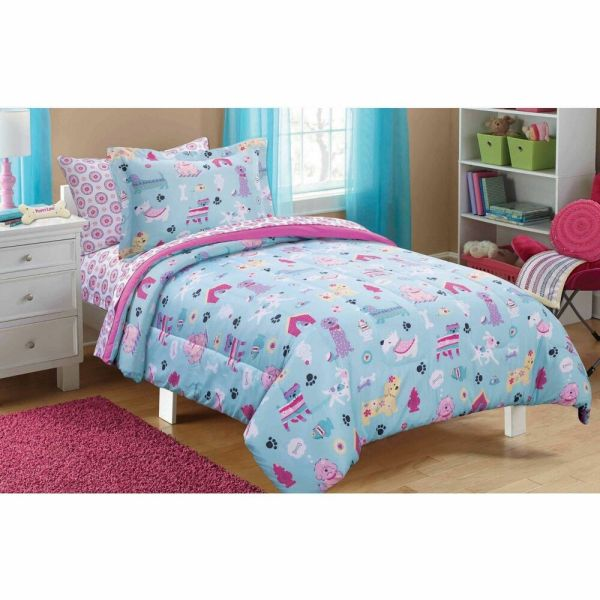Puppy Dog Love Bed In Bag Bedding Comforter Sheets Set Twin Full Size