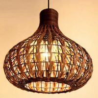 NEW Tropical Bamboo Chandelier DIY Wicker Rattan Lamp ...