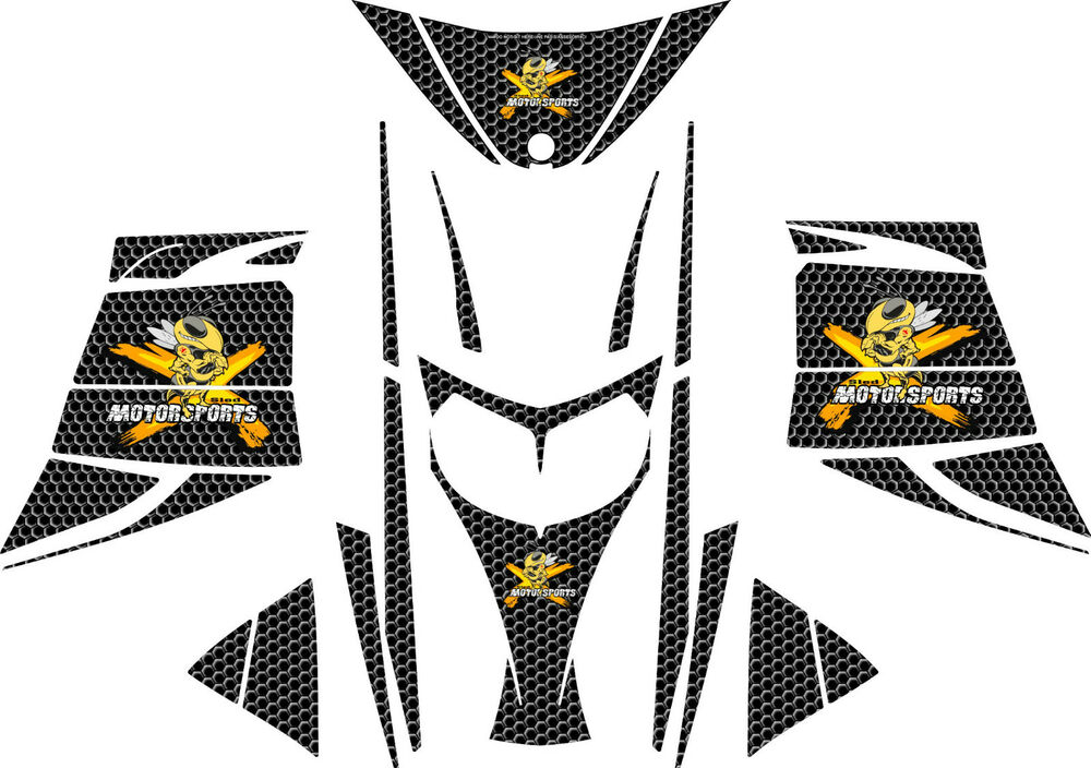 BLACK HONEYCOMB SLED WRAP for SKI-DOO rev mxz 2003-07
