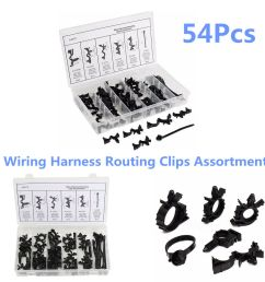 details about 54 pcs set car nylon wiring harness routing clips assortment convoluted conduit [ 1000 x 1000 Pixel ]