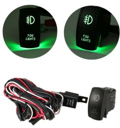 details about universal green led fog light wiring harness fuse laser rocker switch relay us [ 1000 x 1000 Pixel ]